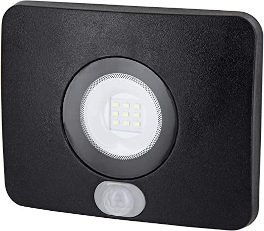SuperSlim LED Foco exterior IP65 con detector de movimiento – 10 W 700lm 230 V –