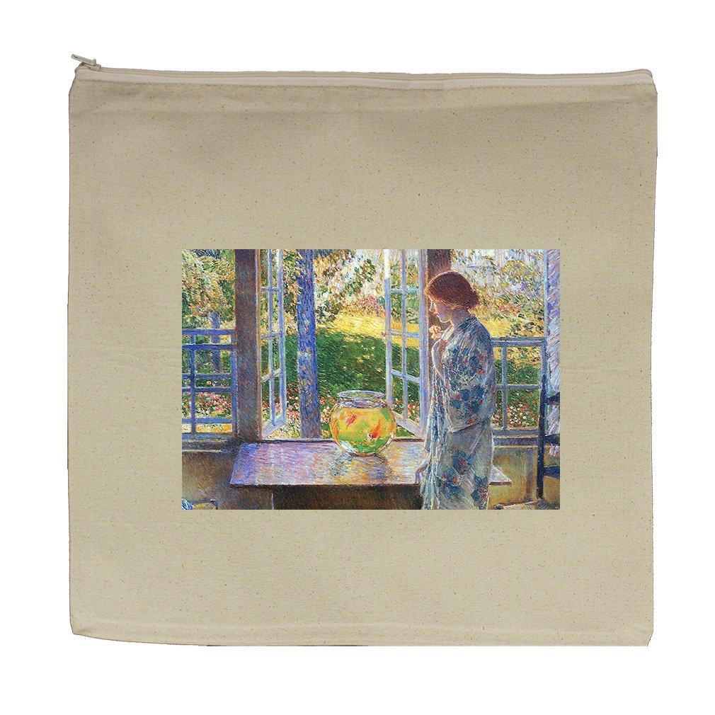 The Goldfish Window (Hassam) Canvas Zipper Tote Bag Makeup Bag