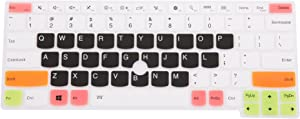 Leze - Keyboard Cover compatible with ThinkPad X260 X270 X280 X390 X395 L390, X380 Yoga, X390 Yoga, ThinkPad X13, X13 Yoga Laptop - White Black
