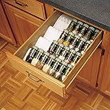 Rev-A-Shelf Cut-to-Size Spice Drawer Insert Organizers, White