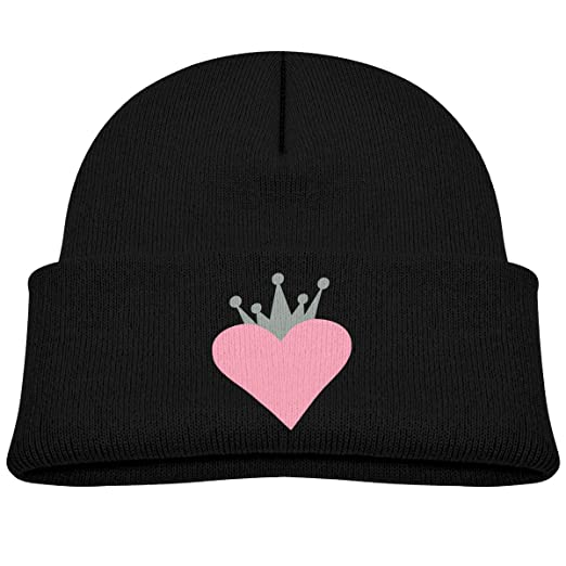 95022423be6 Amazon.com  Kocvbng I Pink Heart with Gray Crown Beanie Caps Skull ...