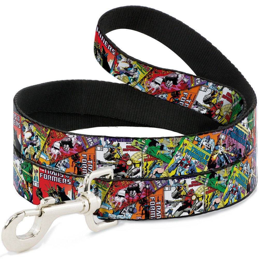 6'-1.5\ Buckle-Down Transformers Comics Stacked  Pet Leash, 6'-1.5