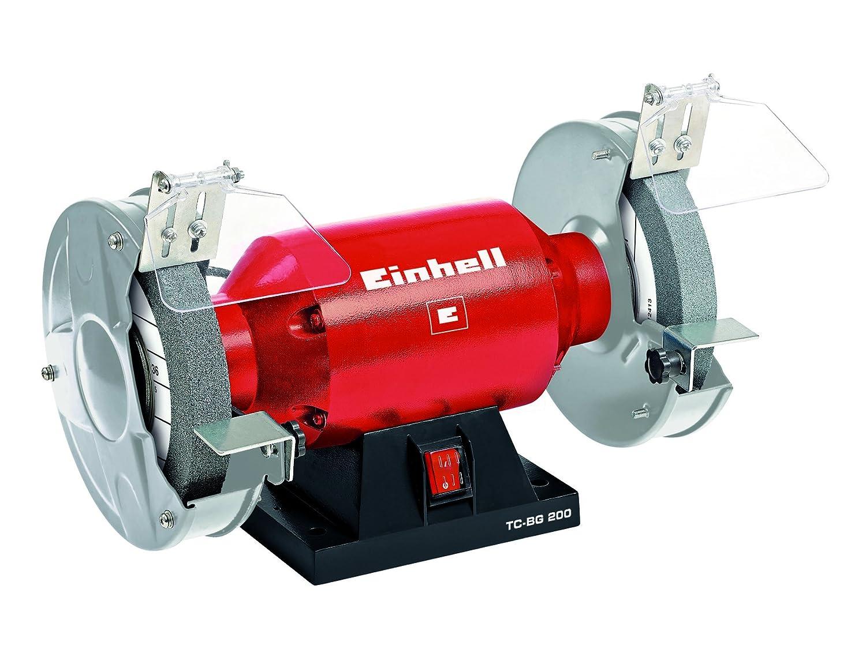 Einhell Doppelschleifer TC-BG 200 (400 W, Drehzahl 2950 min-1, 230 V/50 Hz, inkl. Grob- und Feinschleifscheibe mit 200mm Durchmesser) Scheiben-Durchmesser 200 mm