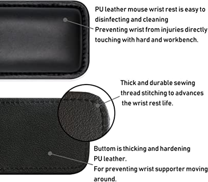 Laptop 5.12inches VAYDEER Mouse Wrist Rest Pad Padded PU Memory Foam Hand Rest Support for Office Mac Typing and Wrist Pain Relief and Repair Computer