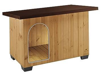Feplast 87016000 Caseta de Exterior para Perros Baita 100, Robusta Madera Ecosostenible, Pies de