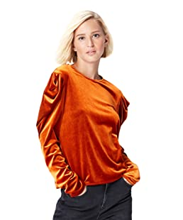 FIND 24858 tops damen party, Orange (Orange), 40