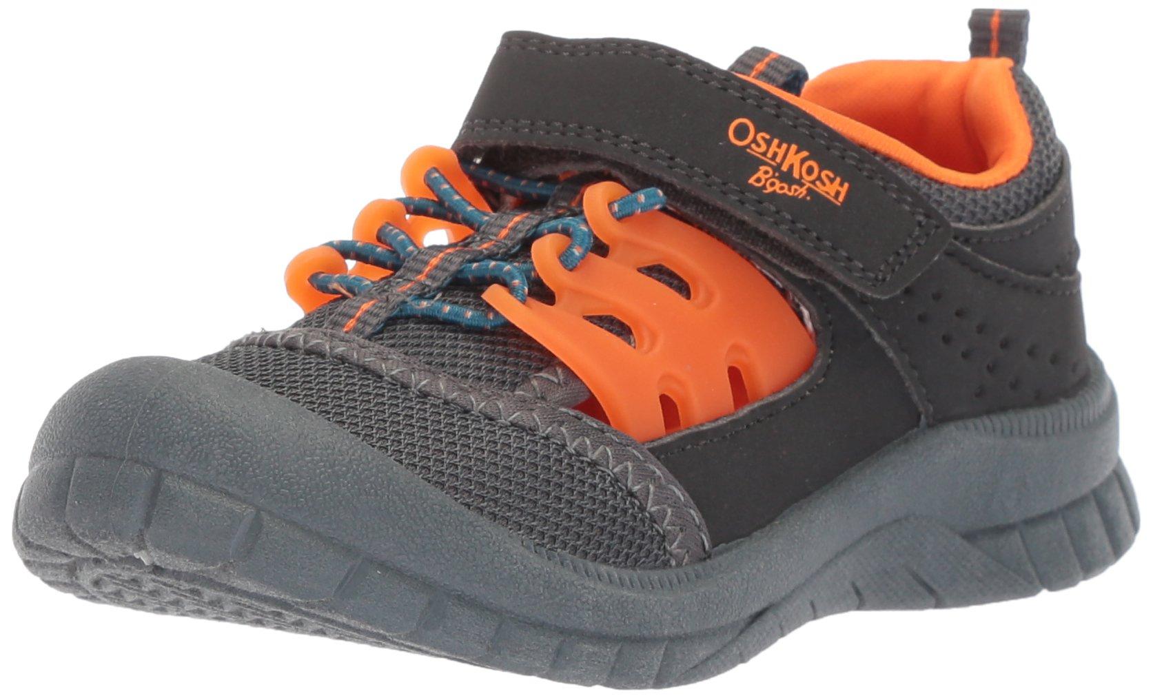 OshKosh B'Gosh Koda Boy's Bumptoe Athletic Sandal Sport, Grey, 12 M US Little Kid
