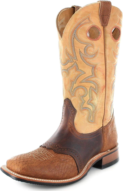 Boulet Men'S Saddle Rider Sole Boot Square Toe - 231