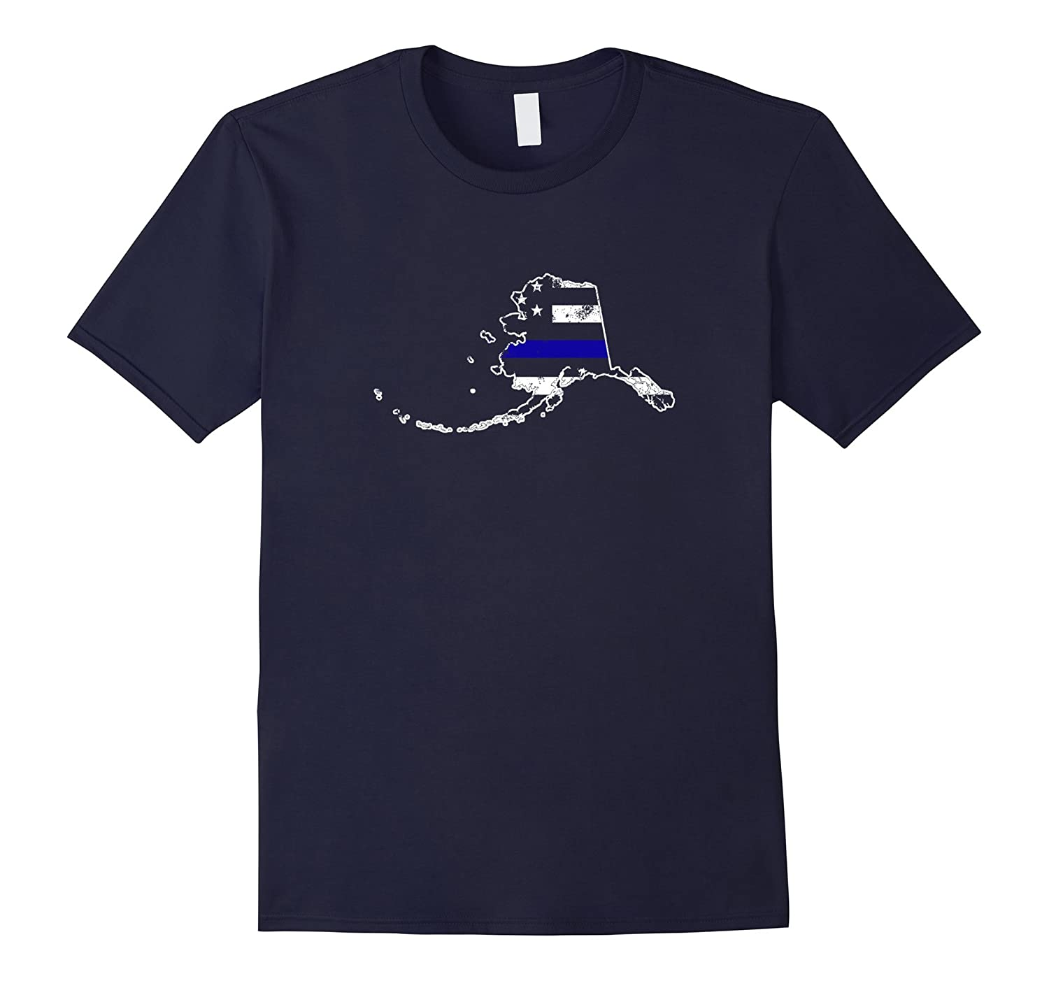 Alaska Thin Blue Line Police T-Shirt-CL