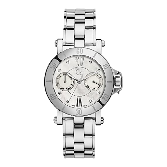 Reloj Guess Collection Gc Femme 8 Diamonds X74103l1s Mujer Nácar