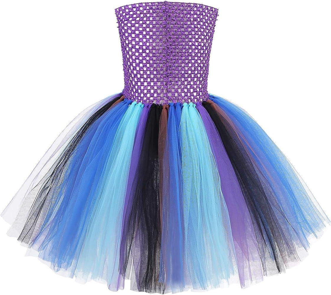 Agoky Disfraz de Pavo Real Princesa para Niña Vestido Tutú de ...