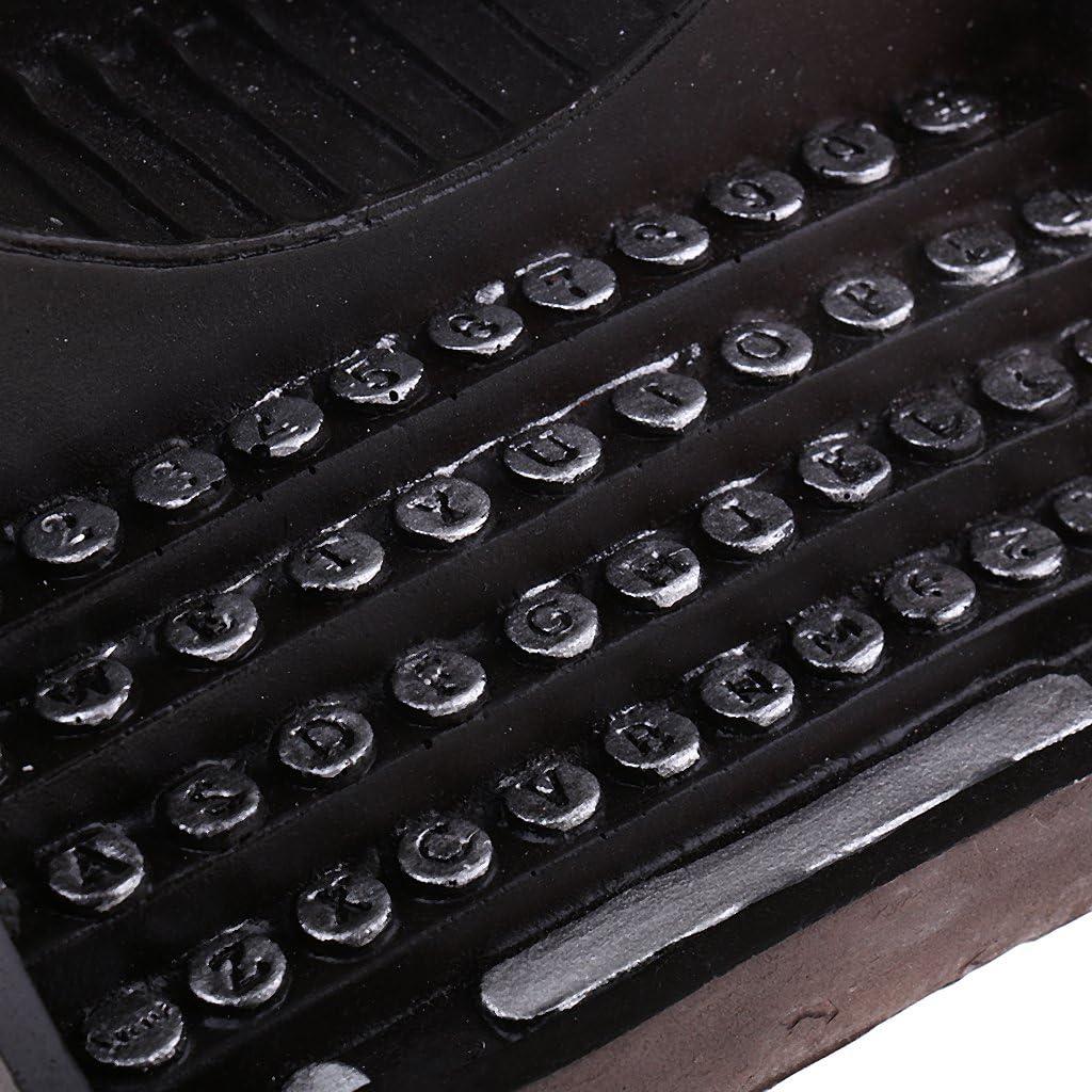 Vintage Typewriter Resin Crafts Antique Figurine for Office Home Decor Black