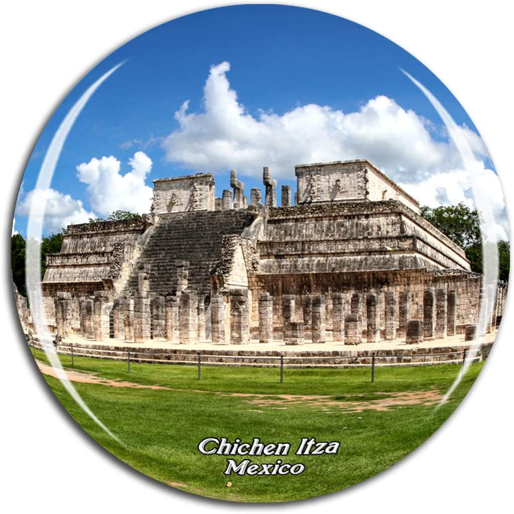 Weekino Mexico Chichen Itza Maya Fridge Magnet 3D Crystal Glass Tourist City Travel Souvenir Collection Gift Strong Refrigerator Sticker