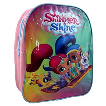 shimmer and shine cat bk 9017 32cm junior backpack amazon ca toys