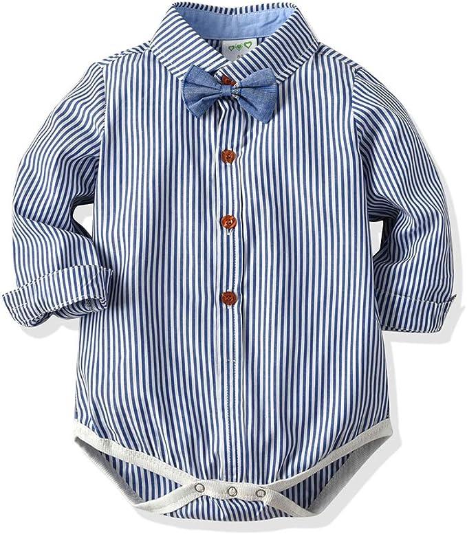 junkai Gentleman Baby Boy Clothing Camisa Infantil Blusa Ropa ...