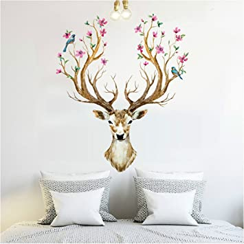 Wall Decals Stickers, Kredy Kancil Sika Deer 3D Home Kidsu0027 Room Wall Décor  Removable Part 38