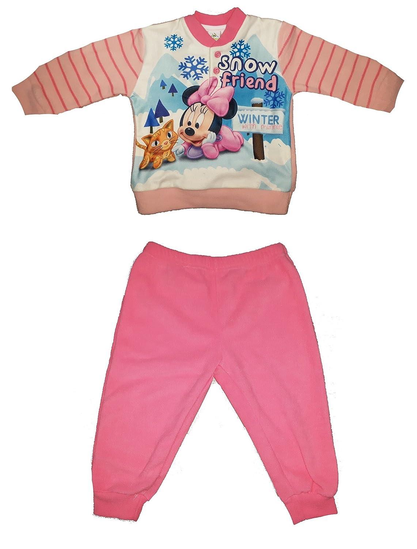 pigiama neonata/o pile leggero MINNIE o TOPOLINO disney art. WD101007 (24 mesi, minnie)