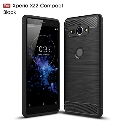 purchase cheap d0d9e a776b MYLB Compatible with Sony Xperia XZ2 Compact Case,Ultra Slim Lightweight  Carbon Fiber Design Flexible Soft TPU Case Highstrength Shockproof  Protective ...
