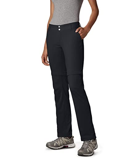6b78b125ab Columbia Women's Saturday Trail II Convertible Pant, Water & Stain  Resistant, Black, ...