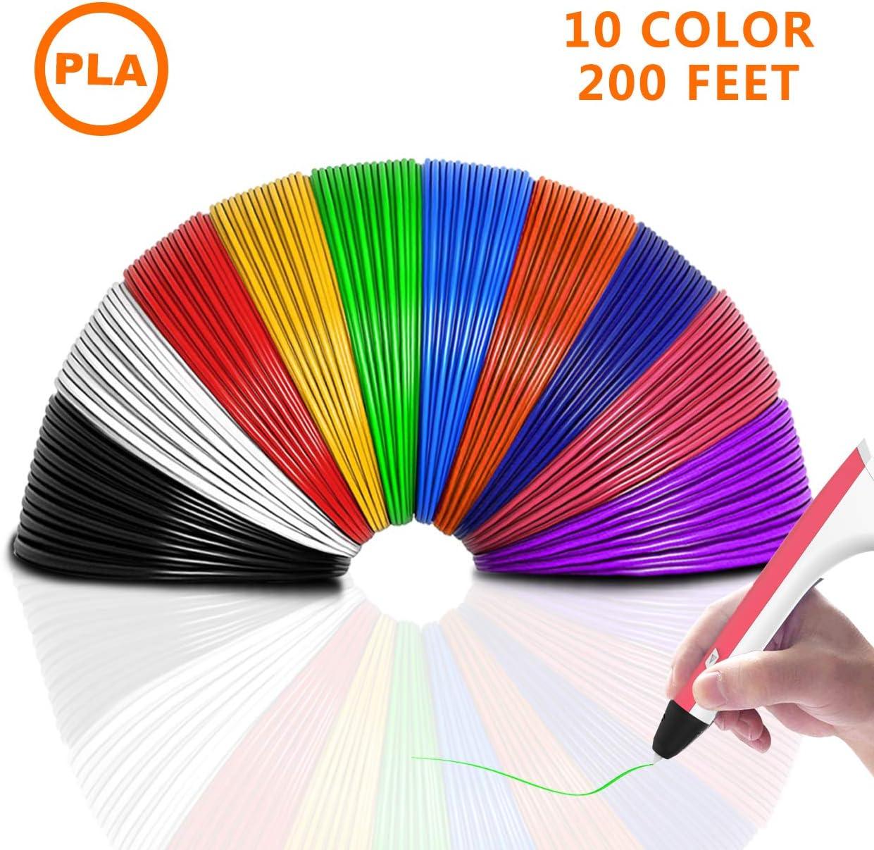 BelleStyle 3D Stylo Impression 3D Stylo pour Enfant Pen Imprimante /à Peindre Impression St/ér/éoscopic Printing Pen avec PLA /& ABS Filament Multi-Couleur pour Artisanat 3D Enfant Cadeaux de No/ël