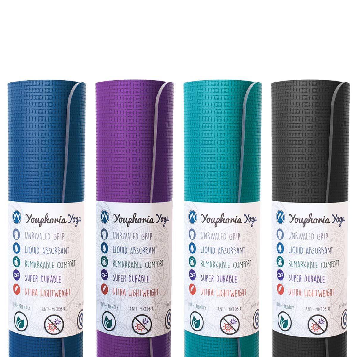 Amazon.com : Youphoria Yoga Non Slip Yoga Mats (8 Pack - 2X ...