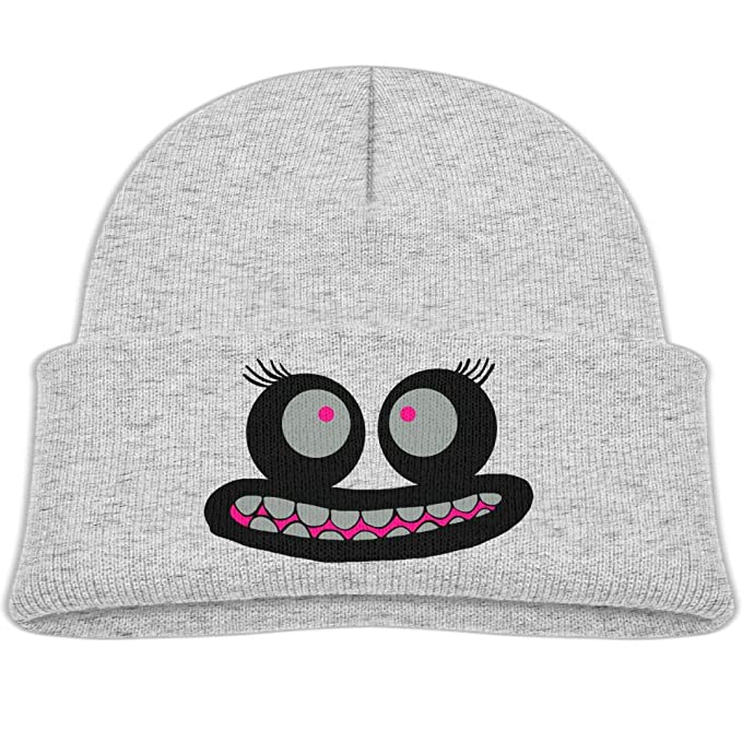a26890f205c Qiop nee Beanie Hats Wool Knit Caps Cute Monster Face Boys Girls Baby Soft