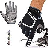 NICEWIN Guantes de ciclismo de dedos completos para hombres, tela transpirable resistente al desgaste, almohadilla de…