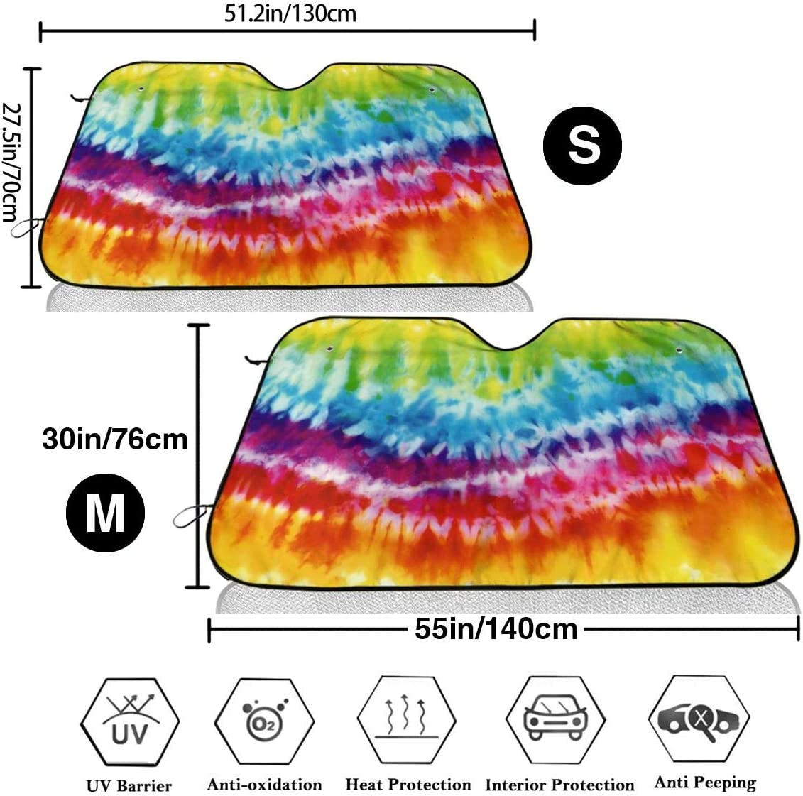 TMVFPYR Accordion Style Car SUV Front Windshield Dachshunds Floral Sunshade