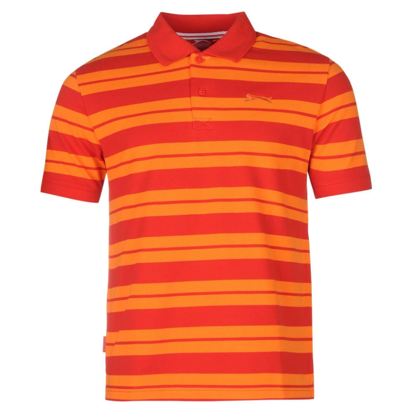 Slazenger Pique Yarn Dye Polo camiseta para hombre rojo Top ...