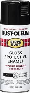 Rust-Oleum 7779830-6PK Stops Rust Spray Paint, 12-Ounce, Gloss Black, 6-Pack