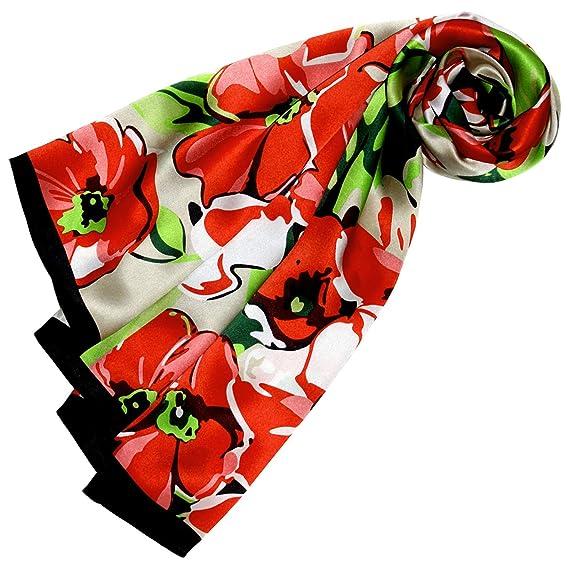 bcc6f605cac4b Lorenzo Cana Foulard pour la femme – écharpe de 100% soie pour le printemps  et