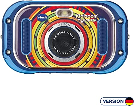 C/ámara Infantil de Fotos Digital VTech Kidizoom Touch 5.0 Versi/ón Alemana Azul