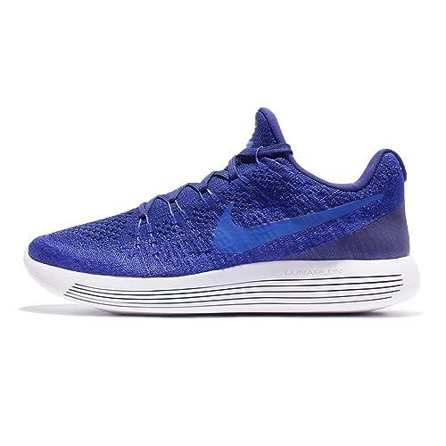 NIKE Mens LunarEpic Low Flyknit 2 Running Shoe Deep Royal Blue/Medium Blue  12.0