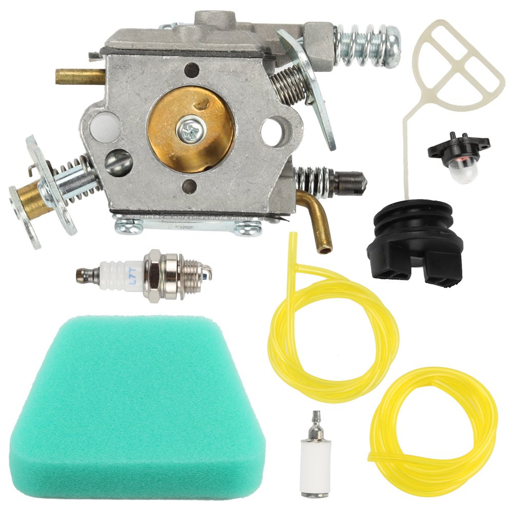 Harbot 545081885 Carburetor with Gas Cap Air Filter Tune Up Kit for Poulan Pro 1900 1950 1975 2050 2055 2075 2150 2155 2175 2250 2375 2450 2550 PP220 PP221 PP230 PP260 WT-891 WT-324 WT-391 Chainsaw by Harbot