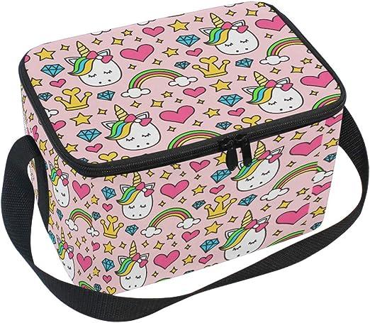 Kids Lunch Bag Cartoon Unicorn Print School Food Insulated Insulation Fruit Box