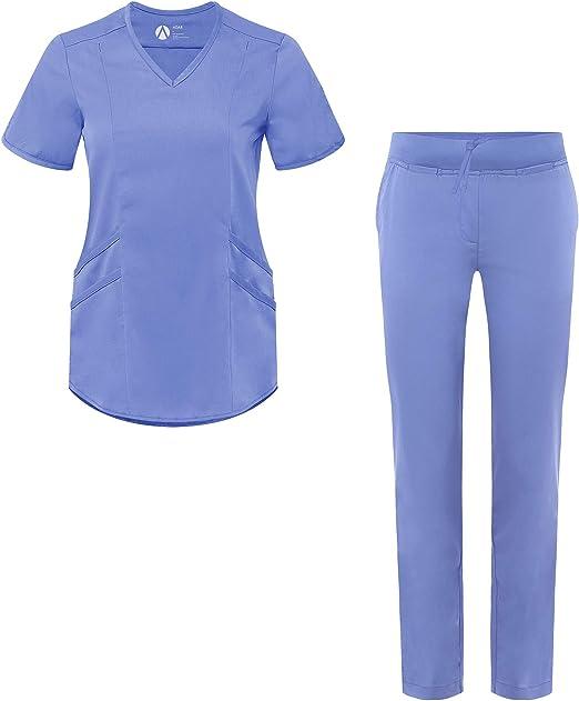 Amazon.com: Adar Pro Scrub Set para mujer – a medida cuello ...