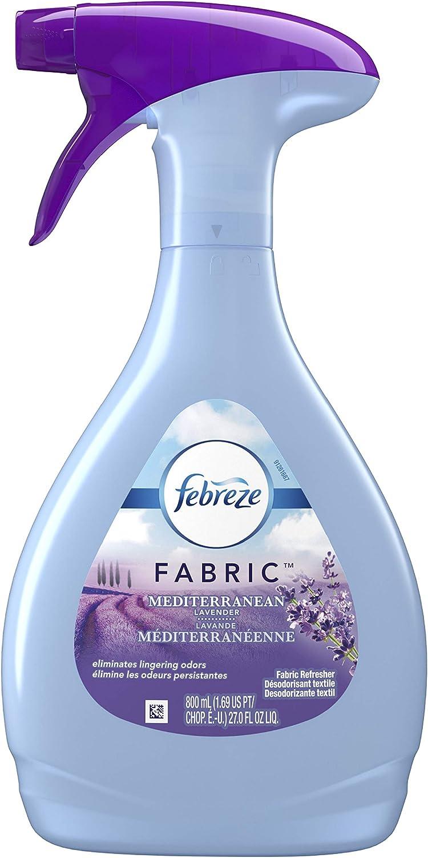 Febreze Fabric Refresher Mediterranean Lavender Air Freshener (1 Count, 800 Ml),27 Fl oz