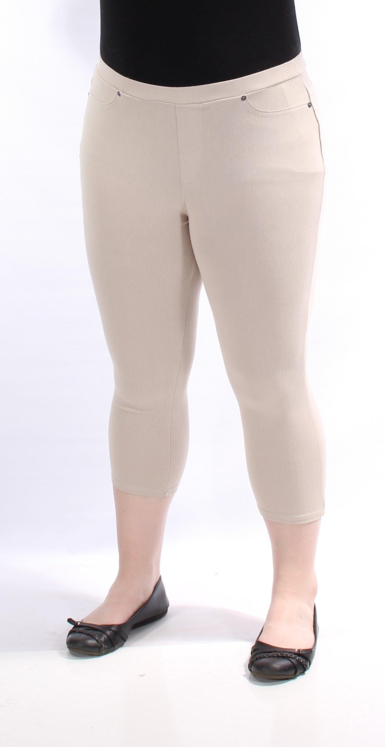 Style & Company Womens New 1253 Beige Casual Leggings Petites XL B+B