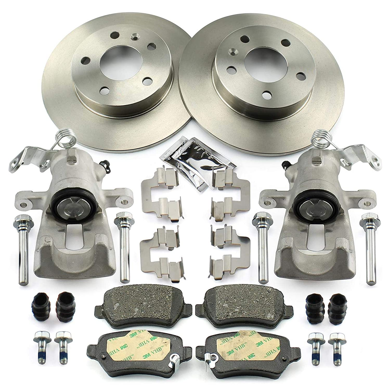 2x Bremssattel + Bremsscheiben + Bremsbelä ge hinten NB PARTS GERMANY 10058535