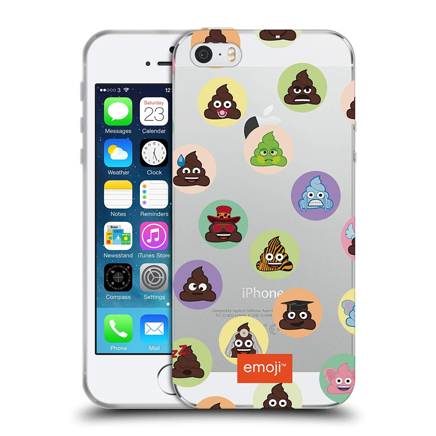 Amazon.com: Official Emoji Blocks Yellows and Poos Soft Gel Case for iPhone 5 iPhone 5s iPhone SE: Cell Phones & Accessories