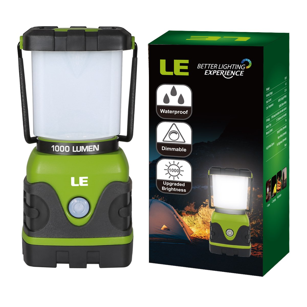Amazon.com  LE 1000lm Dimmable Portable LED C&ing Lantern 4 Modes Water Resistant Light Battery Powered L& for Home Garden Outdoor Hiking Fishing ...  sc 1 st  Amazon.com & Amazon.com : LE 1000lm Dimmable Portable LED Camping Lantern 4 ... azcodes.com