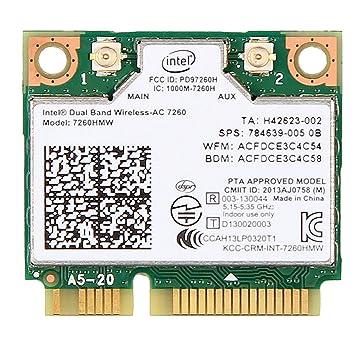 Intel Dual Band Wireless-AC 7260 WiFi Bluetooth Half Mini Card