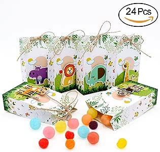 AerWo 24 Cajas de Recuerdos para Baby Shower con Cuerdas para decoración de cumpleaños Infantil y Safari: Amazon.es: Hogar