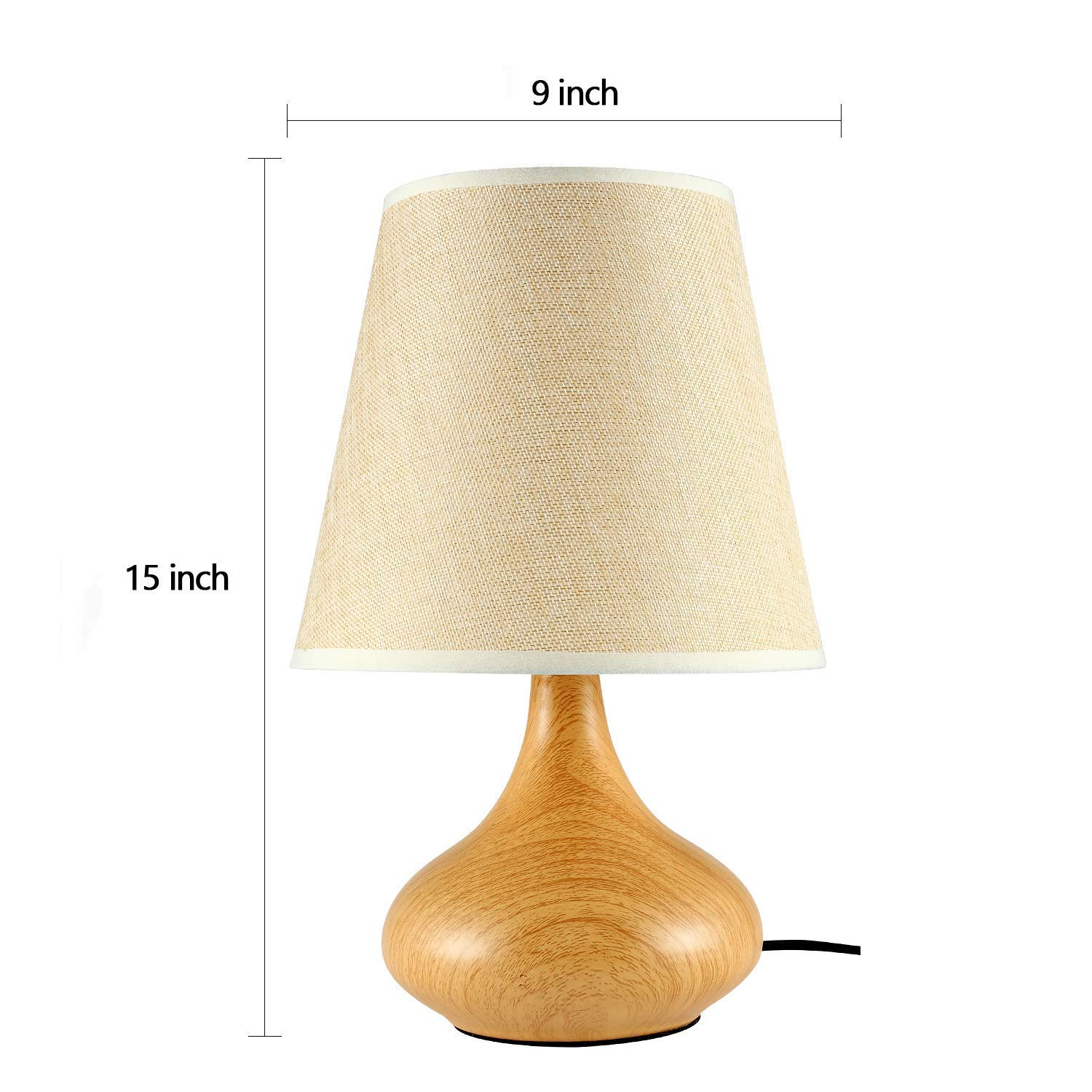 Night Light Lamp Nightstand Decorative Room Desk Lamp Metal Table Desk Light Table Lamps for Bedroom Lounge Orangehome Dining Room Living Room Hotel Kitchen