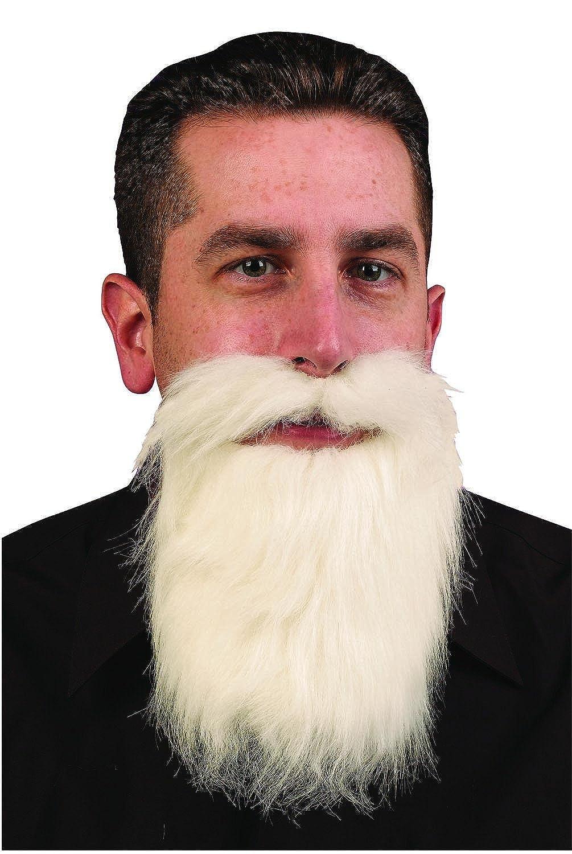 FunWorld White Mustache & Long Beard Costume Accessory One Size FW-9265-WHITE