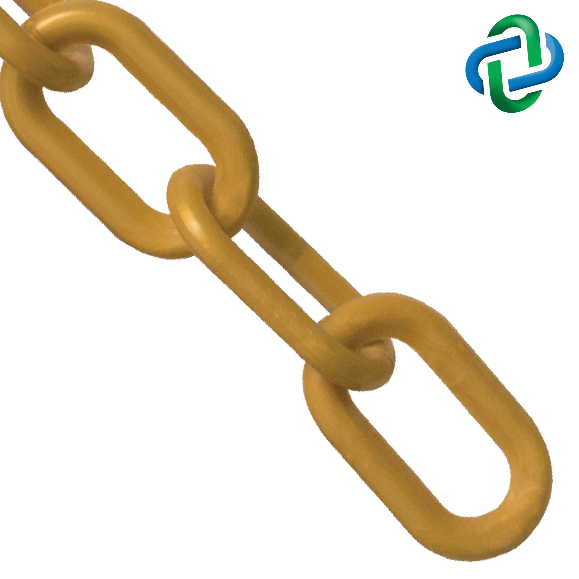 Mr. Chain Plastic Barrier Chain, Gold, 2-Inch Link Diameter, 25-Foot Length (50009-25) by Mr. Chain