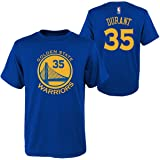 Genuine Stuff Golden State Warriors Youth Kevin Durant NBA Name and Number T-Shirt - Royal,