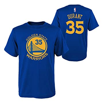 Golden State Warriors Nba Kevin Durant juventud Flat Basic nombre & número camiseta (Royal)