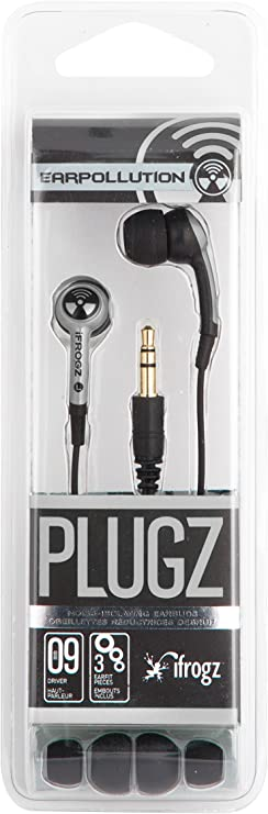 iFrogz EarPollution Plugz Ecouteurs Intra Auriculaires Argent