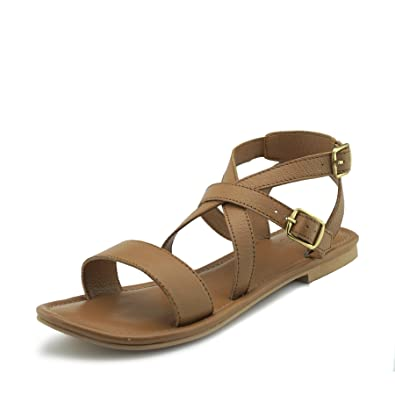 91b2af7d73b7 Kick Footwear Women s Summer Comfort Leather Sandals Strappy Holiday Shoes  - UK2   EU35